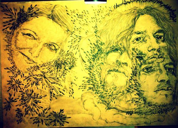 John Frusciante, Nicole Turley by flower